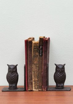 Cool owl bookends