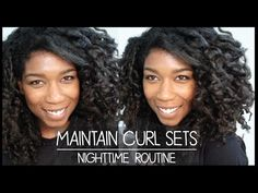 Maintain Rod Sets! Effortless 2nd Day Curls on Natural Hair - YouTube