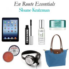 Travel essentials from @Sloane Bartsoff Bartsoff Kratzman // Sailing the Sea of Style - http://www.hithaonthego.com/en-route-with-sloane-kratzman/