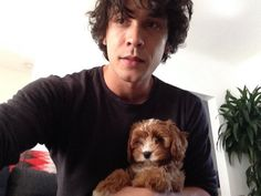 Bob Morley with a puppy...perfection? I think so!