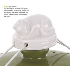 Teapot Drip Catchers: Kitten Keep your teapot lid secure and avoid pesky drips!