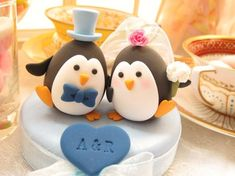 wedding cake topper too darn cute
