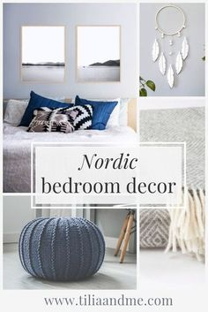 "Nordic bedroom decor inspiration. Now winter is here it's the season to snuggle up with hot tea and warm blankets - and what better time to get inspired by the Scandinavian ""hygge"" way of living. Click through for bedroom ideas all inspired by the Nordic style #nordicinterior #bedroomdecorideas #scandi #scandinavianstyle Scandinavian Bedroom Decor, Nordic Bedroom, Scandinavian Living, Modern Bedroom, Scandinavian Design, Handmade Home Decor, Diy Home Decor, Warm Home Decor, Unique Wall Decor"