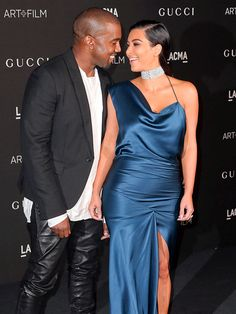 Star Tracks: Monday, November 3, 2014   BLISSED OUT   An ultra-glam Kanye West and Kim Kardashian share a moment at the 2014 LACMA Art + Film Gala honoring Barbara Kruger and Quentin Tarantino in Los Angeles on Saturday night.