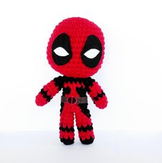 Deadpool Crochet Pattern Instant Download by RoseberryArts
