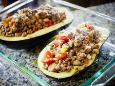 Balsamic Chicken Stuffed Eggplant - The Sophisticated Caveman