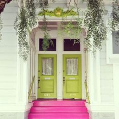 On the right style house,as in this funky, fun victorian... Love the lime green doors and pink stairs