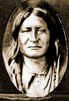 Cheyenne Chief Two Moons as a young man