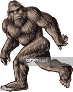 Vector Art : painted bigfoot