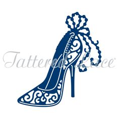 Tattered Lace - Dies - Fancy High Heel-This die measures approx x x Tattered Lace Cards, Designer High Heels, Fancy Shoes, Shoe Art, Whimsical Art, Lace Design, Ribbon Embroidery, Craft Stick Crafts, Paper Cutting