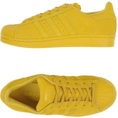 Adidas Originals Low-tops & Trainers (1.371.485 IDR) ❤ liked on Polyvore featuring shoes, sneakers, adidas, yellow, yellow shoes, low top, adidas originals shoes, low profile sneakers and flat shoes