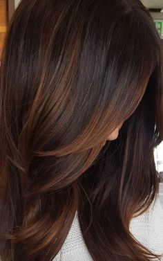 52 Fall Hair Color That Add a Dash of Autumn to Your Hair - Hair Styles Hair Color And Cut, Brown Hair Colors, Brown Blonde Hair, Hair Highlights, Copper Highlights, Dark Brown Hair With Caramel Highlights, Great Hair, Balayage Hair, Haircolor