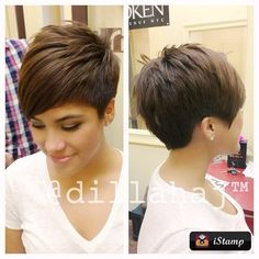 VERY ASKED: 22 super-modern short hairstyles …. photographed from the side, … - Best New Hair Styles Cute Haircuts, Short Pixie Haircuts, Pixie Hairstyles, Short Hairstyles For Women, Cute Hairstyles, Short Hair Cuts, Short Wavy, Medium Hair Styles, Curly Hair Styles