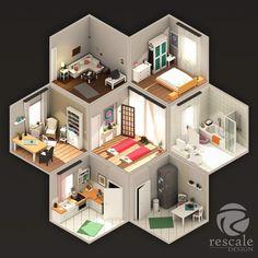 Yoga Loft - ISO LowPoly by rescale on DeviantArt Isometric Art, Isometric Design, Environment Concept Art, Environment Design, Game Design, Design Art, Sims House, Minimalist Art, Creative Design