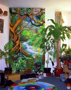 Aztec Jungle mural...bring In plants