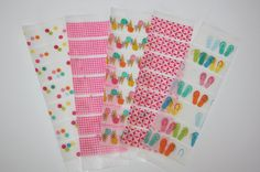 Summer Washi Tape Stickers for your Erin Condren Life Planner. Planning accessories.