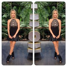 thewhitmore #WhatWhitmoreWore Dress by @ThreeFloor boots by @AllSaintsLive , and of course chakras by @daisy_jewellery #junglecouture