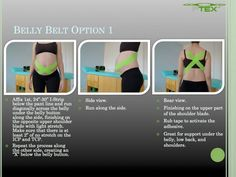 Belly belt taping technique for pregnancy women from #PerformTex