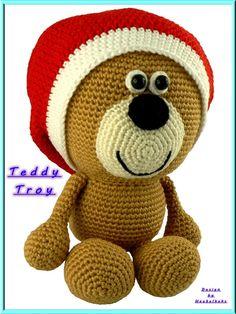 Teddy Troy incl. Mütze -- Häkelanleitung von Haekelkeks