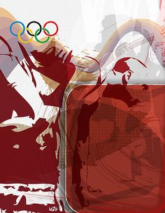 Olympic rings poster by Jeremy Nathan, via Flickr