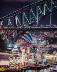 Sydney's most stunning sights seen from Milsons Point - Luna Park, Sydney Harbour Bridge & Opera House.