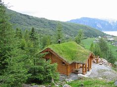 View from the cabins of 'Brekke' & the Sognefjord vacation home in Norway