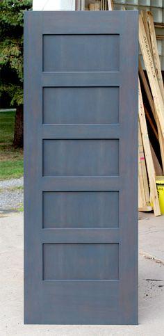 Custom Stained Interior Shaker Doors