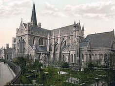 St. Patricks Cathedral. Dublin. County Dublin, Ireland.This color photochrome print was created between 1890 and 1900 in Ireland.