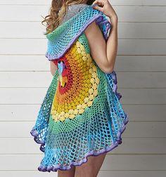 Crochet Circular Mandala Vest