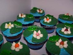 I'm thinking about trying something like this to go with a frog birthday cake for my little guy's 1st birthday coming up!