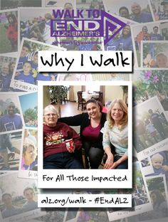 Michelle Walks to #ENDALZ in honor of all those affected by the disease – their caregivers, their families, their friends. Read her story at https://alzgrva.wordpress.com/2015/03/04/why-i-walk-michelle-gomez/. You can now register for the 2015 Walks to End #Alzheimers! Northern Neck – Middle Peninsula; Saturday, September 19th; Fredericksburg; Saturday, September 26th; Richmond Walk to End Alzheimer's; Saturday, November 7th. Register at www.alz.org/walk #dementia #RVA #CentralVirginia…