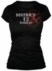 Show your bravery with this District 12 Tribute t-shirt from the soon to be classic movie The Hunger Games, ladies sizes now available