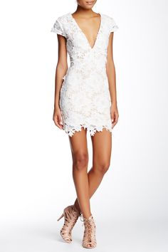 Loving this Tea & Cup White Victoria Crochet Dress
