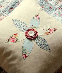 Japanese Zakka Linen and Applique Daisy by MadeInEastLondon, £15.00