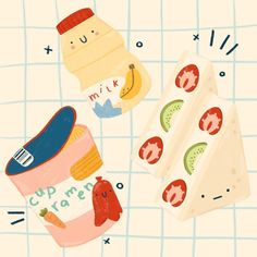 Illustration Inspiration, Cute Illustration, Wallpaper Stickers, Kawaii Wallpaper, Journal Stickers, Planner Stickers, Printable Stickers, Cute Stickers, Posca Art