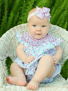Beautiful baby girls bubble romper