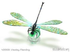 dragonfly freestanding on marble