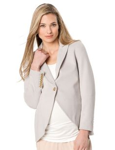 Isabella Oliver Button Detail Bi-stretch Suiting Maternity Jacket #smartsuiting