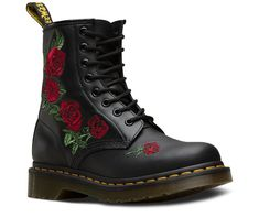Shop Dr Martens 1460 VONDA EMBROID 8 EYE BLK styles at Platypus Shoes for free & fast delivery online, or collect in-store same day. Shop Dr Martens now! Dr. Martens, Dr Martens 1460, Doc Martens Stiefel, Red Doc Martens, Doc Martens Outfit, Doc Martens Women, Doc Martens Boots Black, Doc Martens Floral, Doc Martins Boots