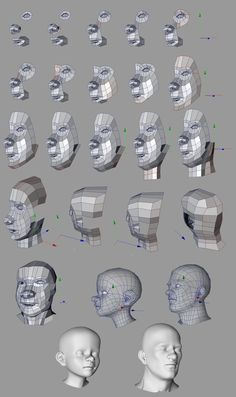 human face topology