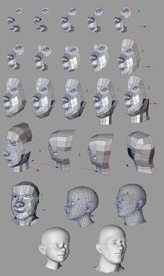 human face topology