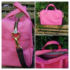 Bolsa de couro rosa
