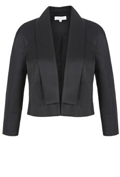 A simple lightly structured and versatile jacket to be worn over a dress for any event. With curved seam lines and shoulder form, the jacket is easy to wear. A neat timeless modern classic with elegant 3/4 length sleeves. Fully Lined from Italian cloth. Made in London.
