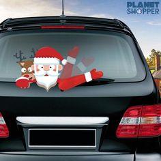 Inspire Uplift Car Wiper Christmas Decal Stickers Santa and Reindeer Car Wiper Christmas Decal Stickers Christmas Decals, Christmas Car, Best Christmas Gifts, Holiday Fun, Christmas Crafts, Christmas Things, White Christmas, Holiday Decor, Sticker Storage