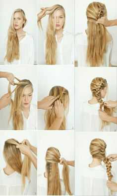 beautiful-romantic-tutorial-hairdo-braid-super-messy-heiar-clear-this-made-that-step-side-longromantic-side-braid-hair-tutorial-romanti/ SULTANGAZI SEARCH Braided Hairstyles Tutorials, Twist Hairstyles, Trendy Hairstyles, Beautiful Hairstyles, Easy Hairstyle, Hairstyle Ideas, Braid Tutorials, Black Hairstyle, Hairstyles 2018