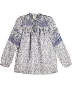 Pale Floral Indian Top