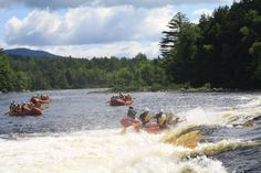 #PenobscotRiverRafting in Maine offers class V #WhitewaterExcitement!