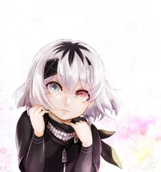 Awe so adorable. Wait, I don't think she actually has that one ghoul eye. Eh