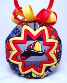 Image result for quilted fireman ornament