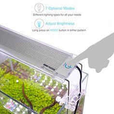 Pawfly-LED-Aquarium-Light-Adjustable-Brightness-Fish-Tank-Plant-Lighting-with-Extendable-Brackets-18-to-24-Inch Aquarium Led, Led Aquarium Lighting, Plant Lighting, Planted Aquarium, Fish Tank Lights, Plant Growth, Aquatic Plants, Photosynthesis, Natural Light